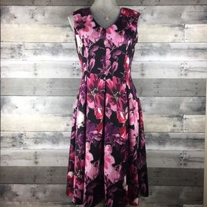 Gabby Skye Skater Dress Midi Fit & Flare Floral